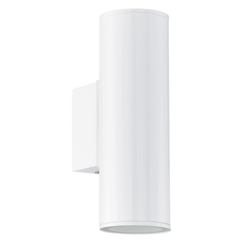 Eglo Riga Twin Led Outdoor Wall Light - Gloss White - Lighting Direct within White Outdoor Wall Lighting (Image 2 of 10)