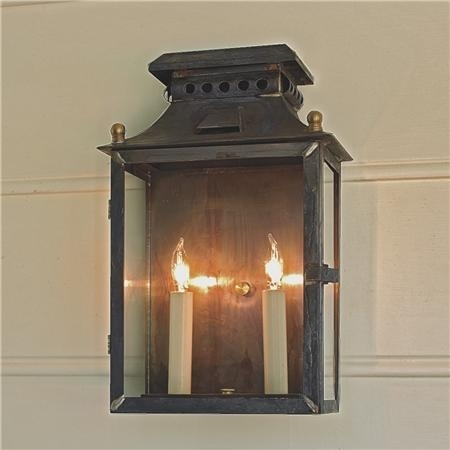 Elegant Outdoor Wall Lantern Lights Federal 2 Light Large For for Outdoor Wall Lantern Lights (Image 4 of 10)
