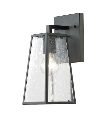 Elk 45090/1 Meditterano 1 Light 14 Inch Textured Matte Black Outdoor Regarding Black Outdoor Wall Lighting (Photo 6 of 10)