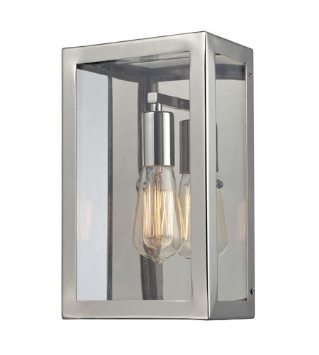 Elk Lighting Parameters-Nickel 1 Light Wall Sconce In Polished with Chrome Outdoor Wall Lighting (Image 2 of 10)