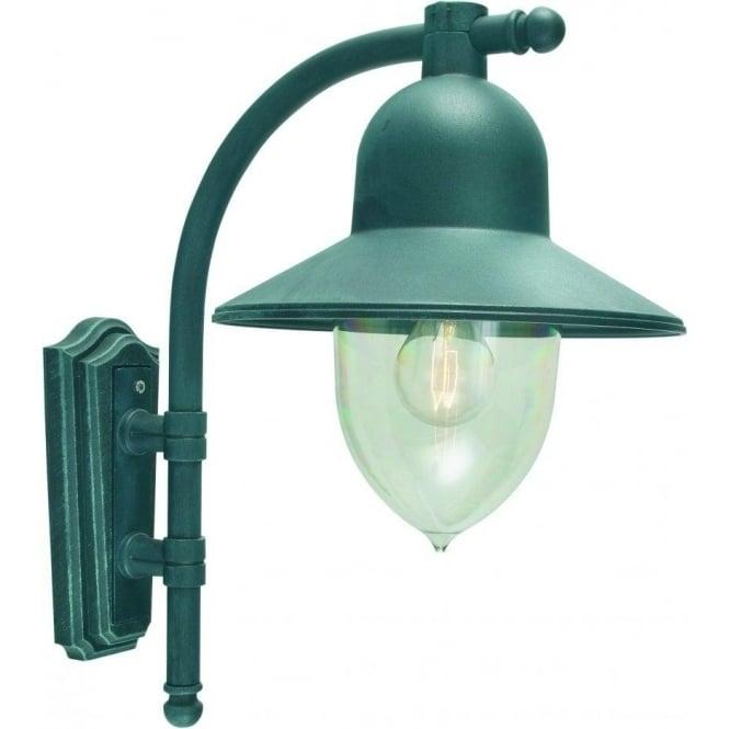 Elstead Lighting Como Outdoor Wall Light In Verdigris Finish inside Verdigris Outdoor Wall Lighting (Image 3 of 10)