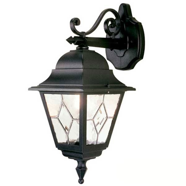 Elstead Norfolk Outdoor Hanging Wall Light Lantern Black in Outdoor Hanging Wall Lanterns (Image 4 of 10)