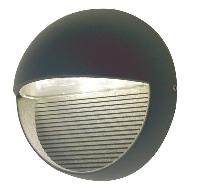 Elstead Radius Round Cree Led Exterior Wall Light | Ut/radius Sp R With Round Outdoor Wall Lights (Photo 10 of 10)