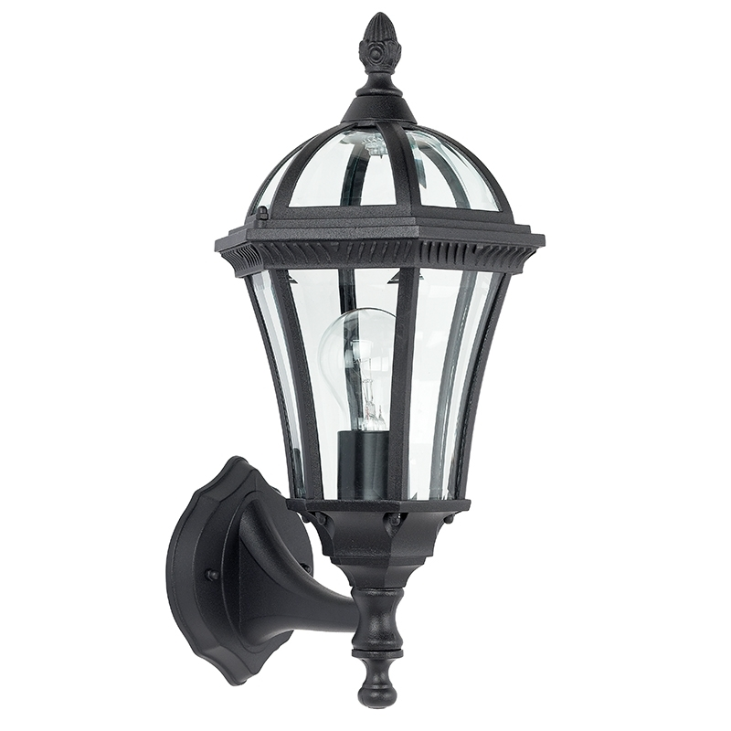 Endon Yg 3500 Cast Aluminium Wall Light Black Outdoor Lantern With Regard To Endon Lighting Outdoor Wall Lanterns (Photo 9 of 10)