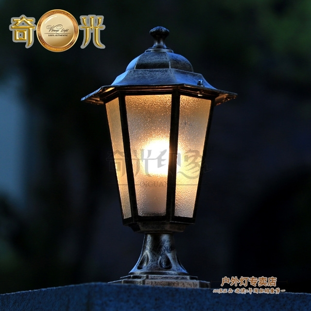 European Retro Outdoor Wall Lantern Led Iluminacion Exterior Outdoor Regarding Outdoor Wall And Post Lighting (Photo 5 of 10)