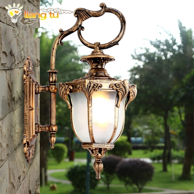 European Style Outdoor Wall Lamp American Style Villa Garden Retro With European Outdoor Wall Lighting (Photo 3 of 10)