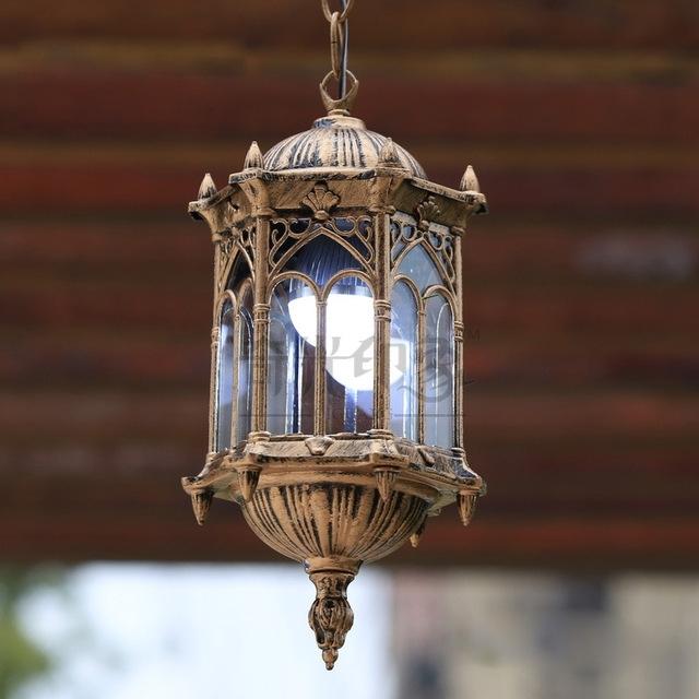 European Vintage Outdoor Porch Pendant Lights Courtyard Corridor within Vintage Outdoor Hanging Lights (Image 5 of 10)