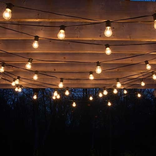 Excellent Best 25 Pergola Lighting Ideas On Pinterest Outdoor Patio Intended For Outdoor Hanging Lights Bulbs (Photo 1 of 10)