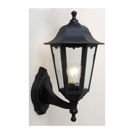 Exterior Plastic Outdoor Living Area Convertible Wall Lantern E27 with Plastic Outdoor Wall Lighting (Image 4 of 10)