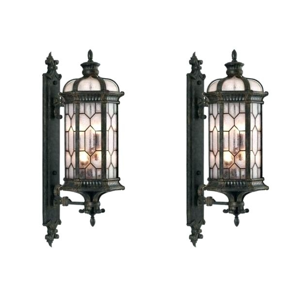 Exterior Wall Mounted Light Fixtures Best Outdoor Wall Light Throughout Large Outdoor Wall Lighting (View 5 of 10)