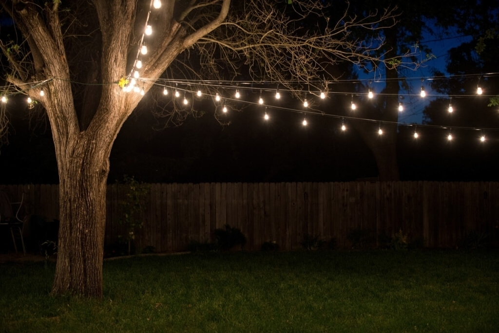 Fabulous Hanging Outdoor Lights At Home Decoration Lovely String throughout Hanging Lights In Outdoor Trees (Image 2 of 10)