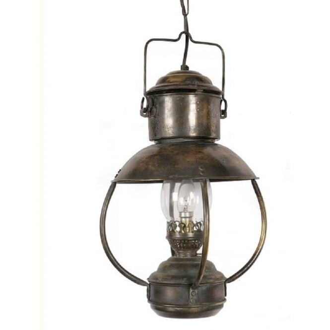 Falmouth Nautical Ceiling Pendant Light Antique Replica Oil Lantern intended for Outdoor Hanging Oil Lanterns (Image 6 of 10)