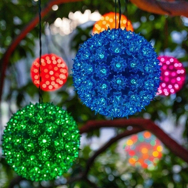 Fantastic Outdoor Christmas Light Spheres Large Chritsmas Decor pertaining to Outdoor Hanging Ornament Lights (Image 6 of 10)
