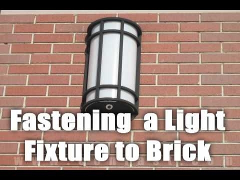 Fastening A Light To A Brick Wall With Sleeve Anchors - Youtube pertaining to Hanging Outdoor Lights on Brick (Image 4 of 10)