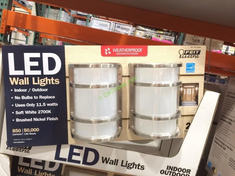Feit Electric Led Wall Sconce Indoor/outdoor 2 Pack – Costcochaser inside Outdoor Wall Lighting at Costco (Image 6 of 10)