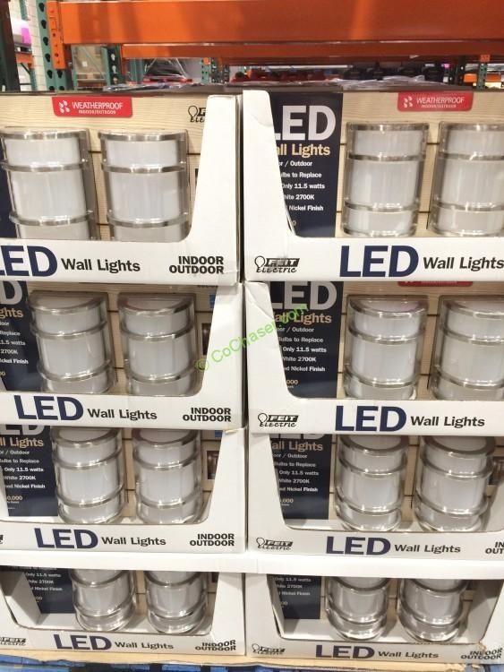 Feit Electric Led Wall Sconce Indoor/outdoor 2 Pack – Costcochaser throughout Outdoor Wall Lighting At Costco (Image 7 of 10)