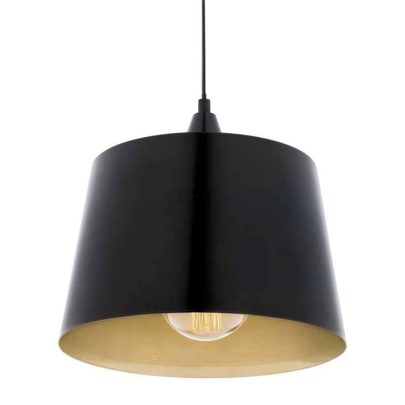 Find Verve Black And Gold Harlan Pendant Lamp At Bunnings Warehouse within Outdoor Hanging Lights At Bunnings (Image 5 of 10)