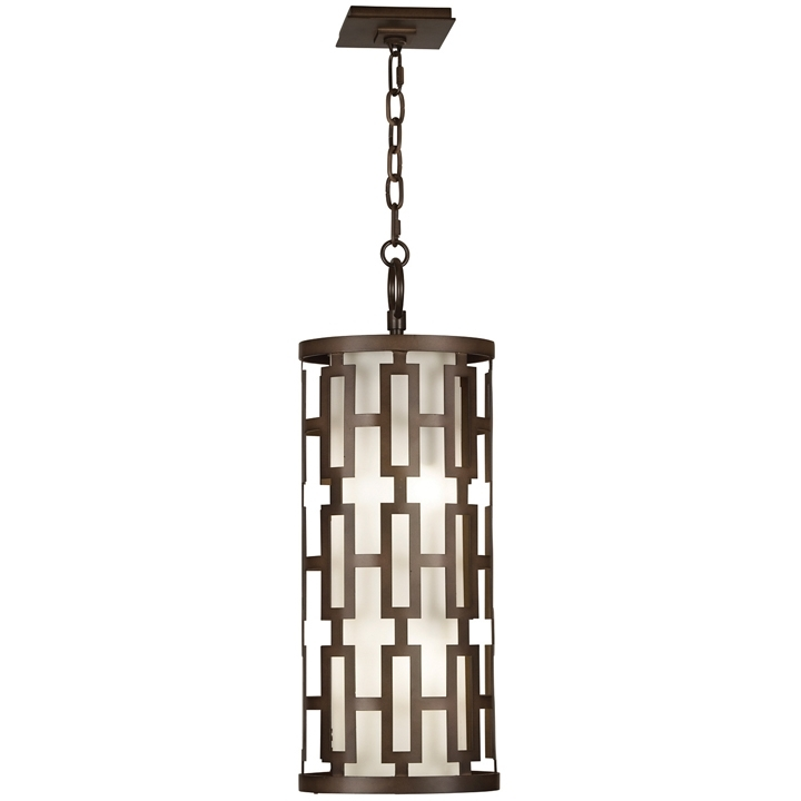 "Fine Art Lamps 839082 River Oaks Dark Bronze Finish 28"" Tall Outdoor inside Bronze Outdoor Hanging Lights (Image 8 of 10)"