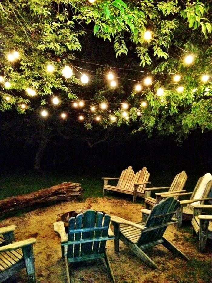 Five Faves :: My Favorite Fire Pits {And Why | Outdoor Lighting pertaining to Hanging Lights In Outdoor Trees (Image 3 of 10)