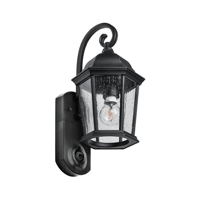 Fleur De Lis Living Hodgkins Security Camera Outdoor Wall Lantern in Outdoor Wall Lights With Security Camera (Image 5 of 10)