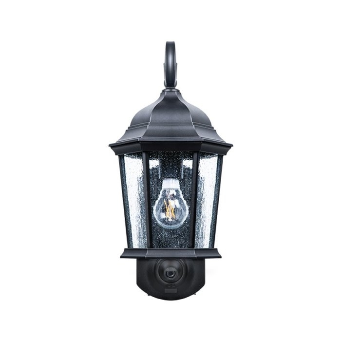 Fleur De Lis Living Hodgkins Security Camera Outdoor Wall Lantern throughout Outdoor Wall Lights With Security Camera (Image 7 of 10)