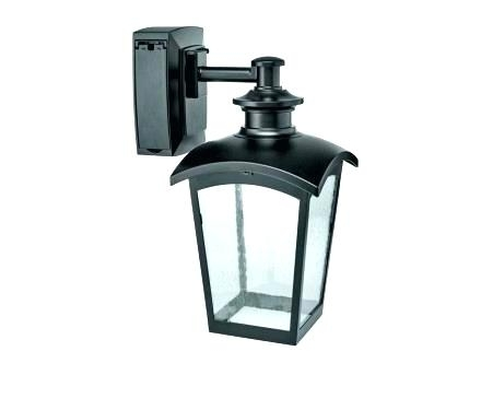 Flood Light With Electrical Outlet Outdoor Wall Lights With throughout Outdoor Wall Lights With Receptacle (Image 2 of 10)