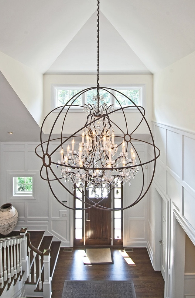 Foyer Lighting Ideas. Light Is From Restoration Hardware Foucault with regard to Restoration Hardware Outdoor Hanging Lights (Image 1 of 10)
