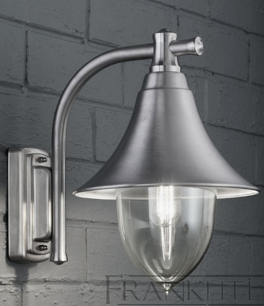 Franklite Ext6589 Lorenz Exterior Wall Lantern In Silver Grey From With Regard To Silver Outdoor Wall Lights (View 5 of 10)