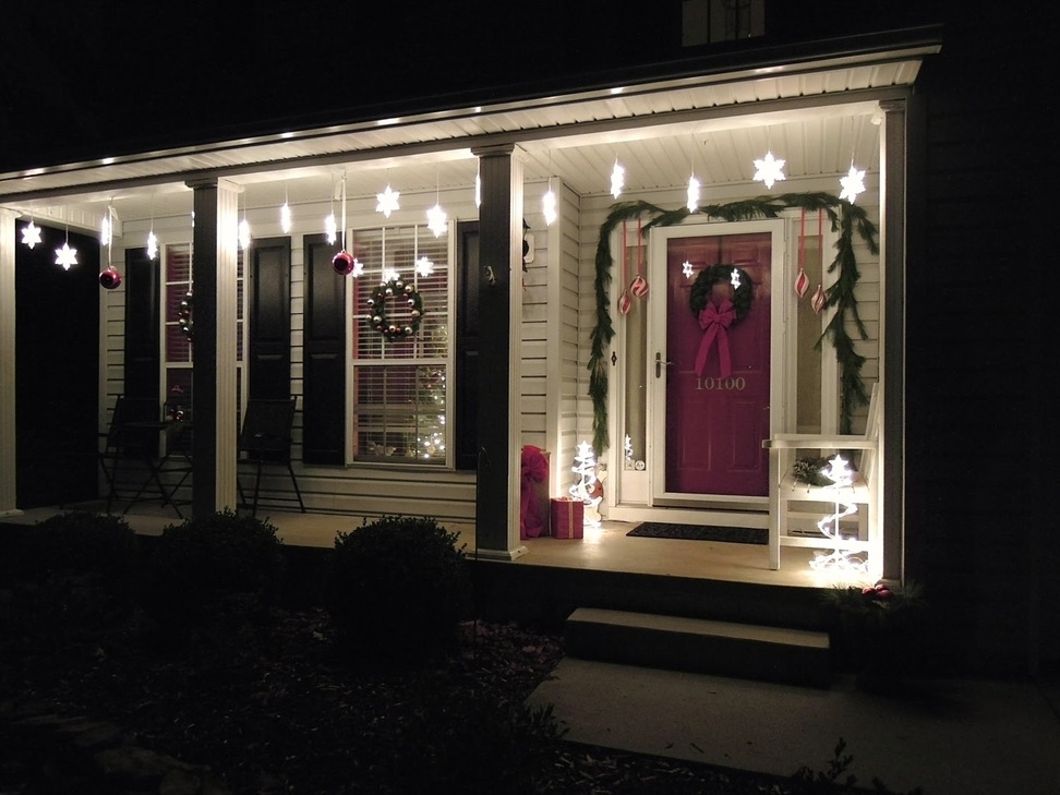 Front Porch Christmas Light Ideas Outdoor Snowflake Lights Home Regarding Outdoor Hanging Snowflake Lights (View 8 of 10)