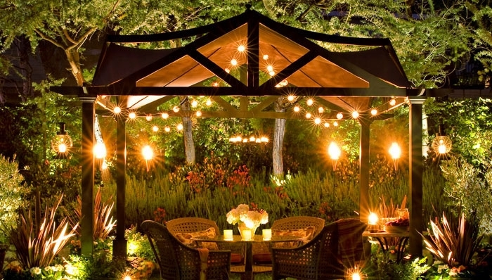 Garden Gazebo Lights Outdoor Lighting Chandelier For Incredible Within Outdoor Hanging Gazebo Lights (View 4 of 10)