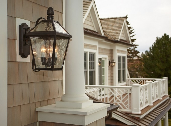 Glamorous Outdoor Wall Mounted Lights 2017 Ideas With Regard To inside Large Outdoor Wall Light Fixtures (Image 6 of 10)