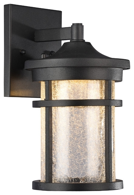 Glass Cylinder Outdoor Wall Sconce, Textured Black - Transitional pertaining to Transitional Outdoor Wall Lighting (Image 4 of 10)