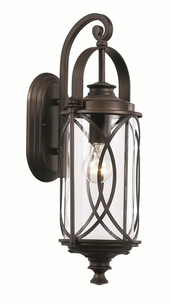 "Globe 18.75"" Outdoor Wall Lighting Fixture - Transitional 40410Rob intended for Transitional Outdoor Wall Lighting (Image 5 of 10)"