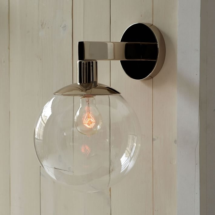 Globe Sconce | West Elm intended for Globe Outdoor Wall Lighting (Image 3 of 10)