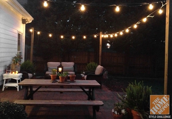 Gorgeous Hanging Patio Lights Ideas Outdoor Lighting Ideas For Your with Hanging Outdoor Lights In Backyard (Image 4 of 10)