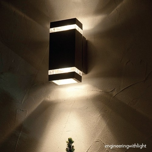 Great Up Down Outdoor Wall Sconce Up Down Wall Light Warisan regarding Up and Down Outdoor Wall Lighting (Image 3 of 10)