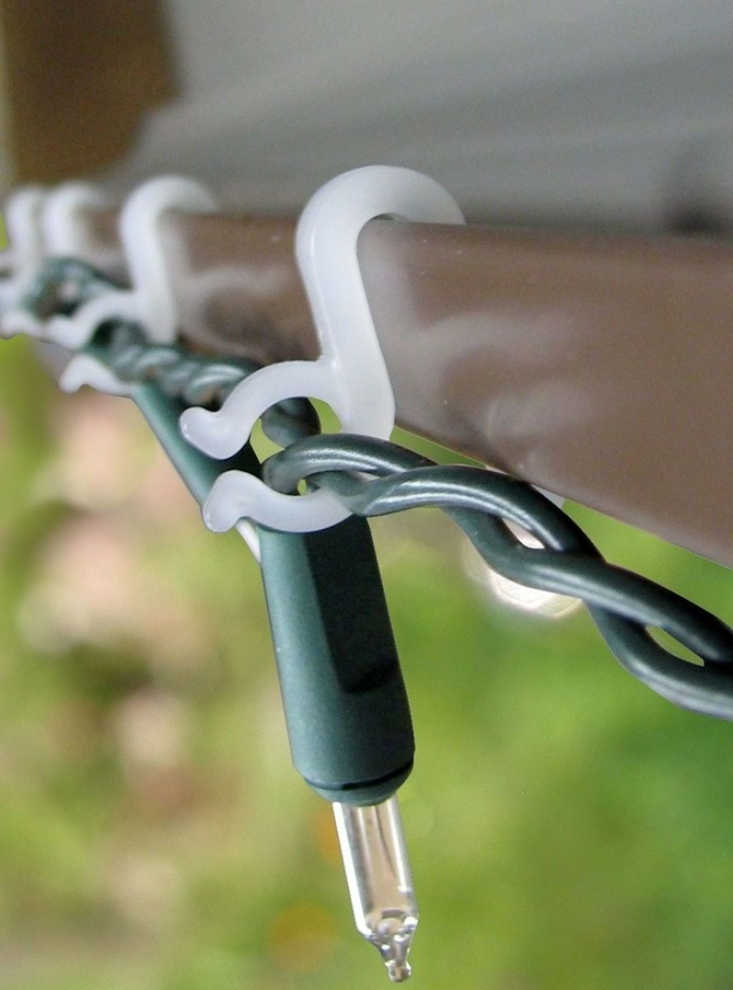 Gutter Hooks: Strong Christmas Light Gutter Hooks From Suction Cups inside Outdoor Hooks For Hanging Lights (Image 3 of 10)