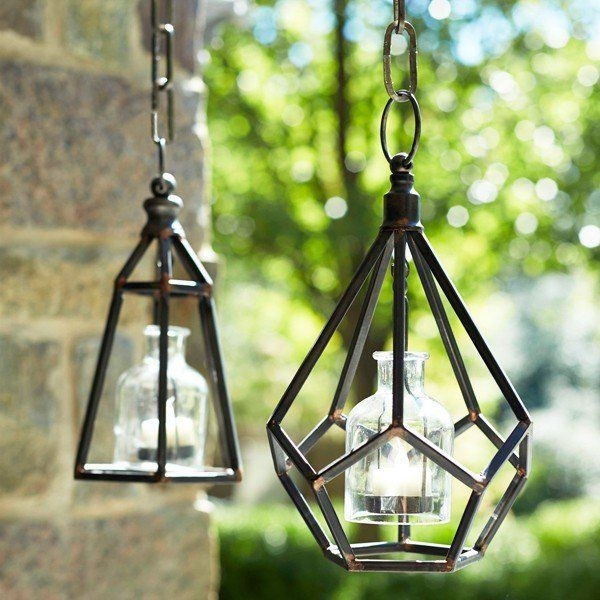 Hang Our Rustic Hanging Tea Light Candle Holder Indoors Or Outdoors within Outdoor Hanging Tea Lights (Image 7 of 10)