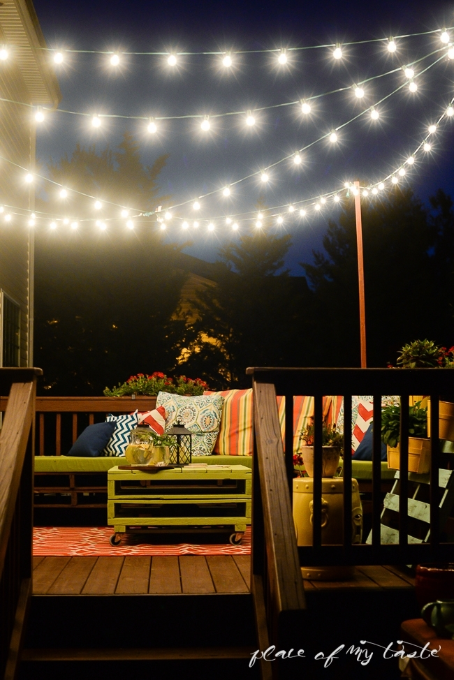 Hang String Lights On Your Deck An Easy Way for Outdoor Hanging Deck Lights (Image 3 of 10)