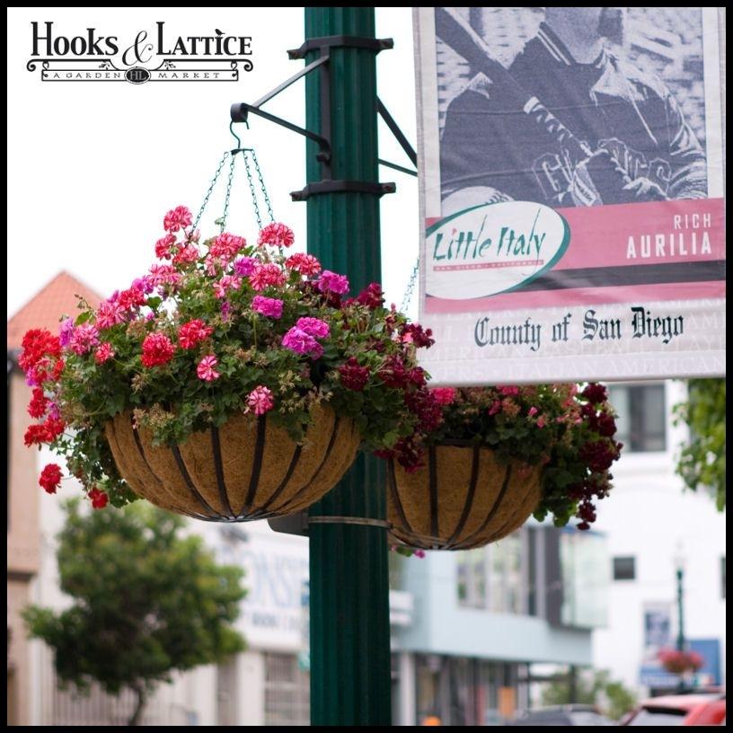 Hanging Basket Brackets, Outdoor Hanging Flower Baskets, Lamp Post Throughout Outdoor Hanging Basket Lights (View 5 of 10)