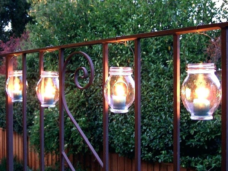 Popular Photo of Outdoor Hanging Lanterns Candles