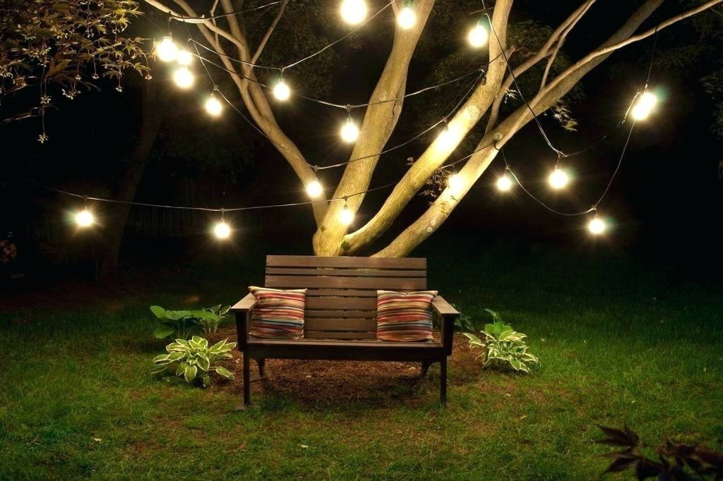 Hanging Garden String Lights How To Hang Outdoor Trees Backyard intended for Hanging Outdoor Lights On Trees (Image 4 of 10)