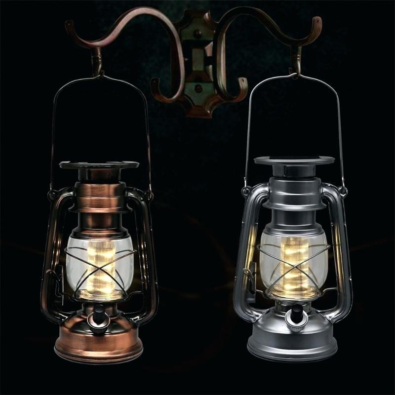 Hanging Outdoor Lanterns Led Lighting Solar Lantern Vintage Solar In with Outdoor Hanging Oil Lanterns (Image 7 of 10)