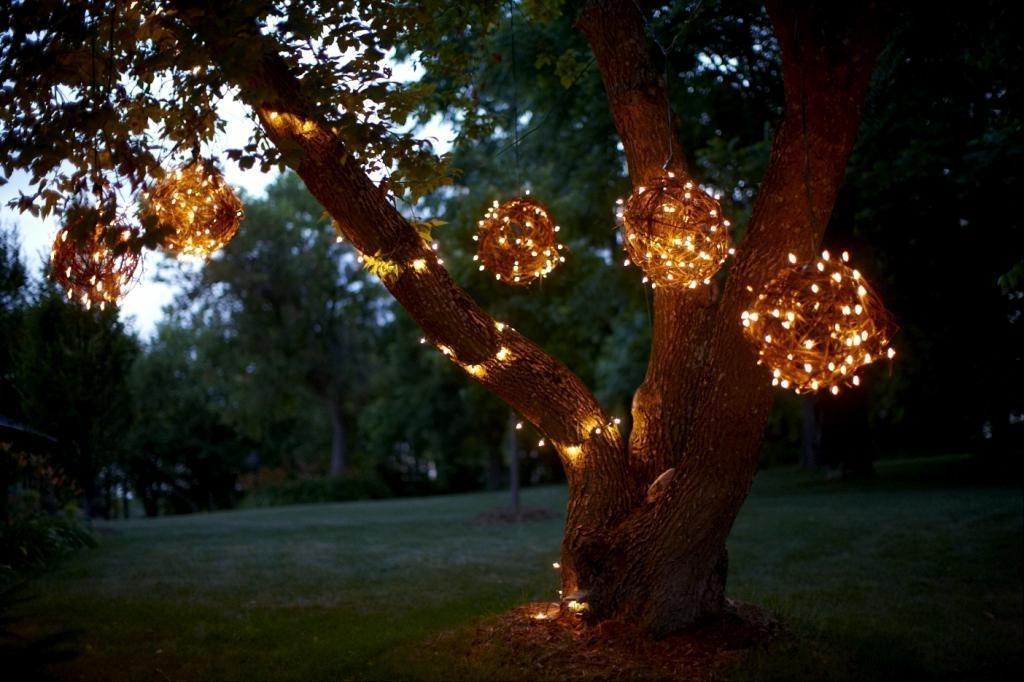 Popular Photo of Outdoor Hanging Tree Lights