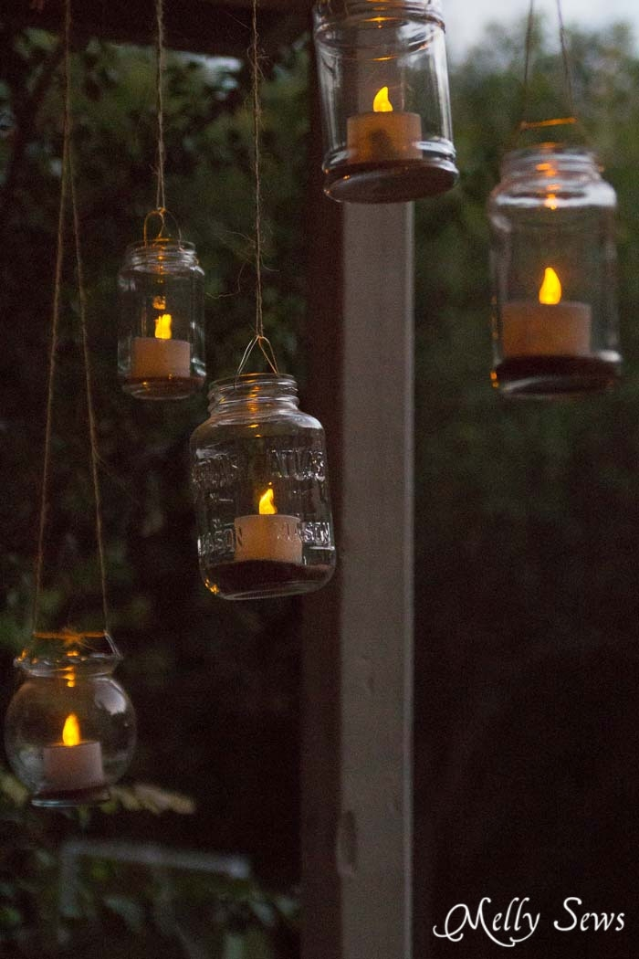 Hanging Solar Tea Lights - Melly Sews with regard to Outdoor Hanging Tea Lights (Image 8 of 10)