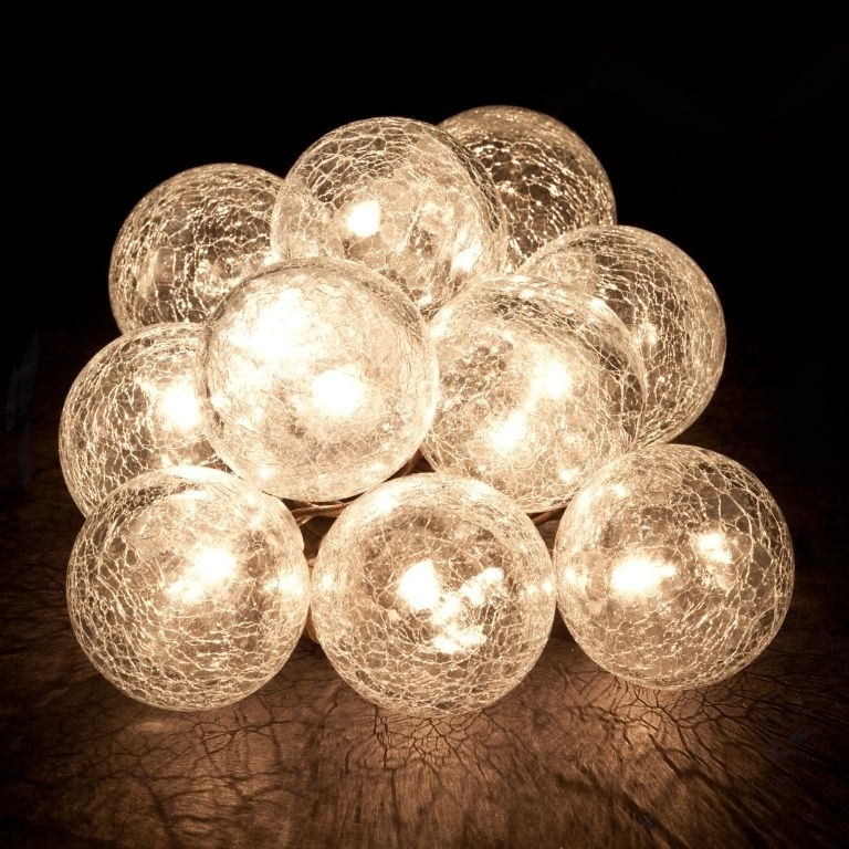 Hanging String Lights | Cracked Glass - Birando | Rv | Pinterest throughout Outdoor Hanging Sphere Lights (Image 4 of 10)