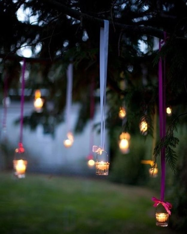 Hanging Tea Lights | Hanging Tea Lights, Outdoor Lighting And Diys throughout Outdoor Hanging Tea Lights (Image 9 of 10)