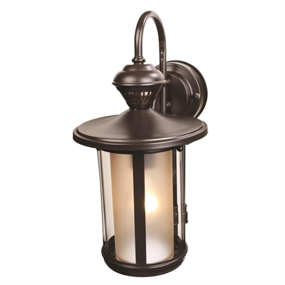 Heath-Zenith 15.61-In H Oil-Rubbed Bronze Motion Activated Outdoor pertaining to Heath Zenith Outdoor Wall Lighting (Image 7 of 10)
