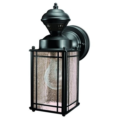 Heath-Zenith 150 Degree Black Motion Activated Outdoor Wall Light in Heath Zenith Outdoor Wall Lighting (Image 8 of 10)