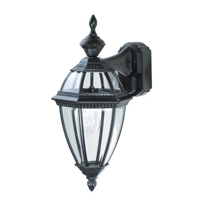 Heath-Zenith 20.875-In H Black Motion Activated Outdoor Wall Light intended for Heath Zenith Outdoor Wall Lighting (Image 10 of 10)